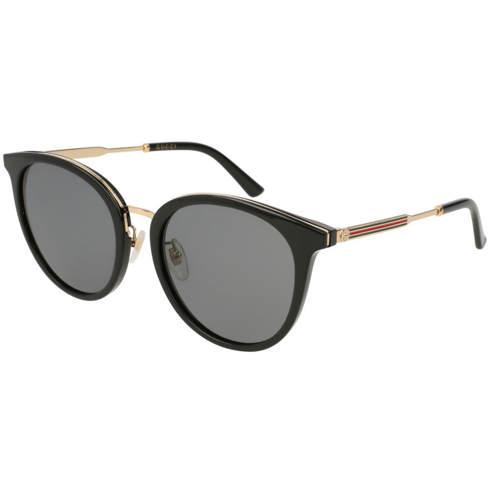 Gucci Round Women's Sunglasses W/Grey Lens GG0204SK-001