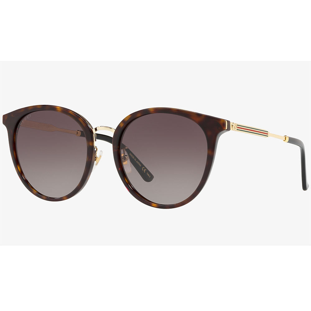 Gucci Women's Sunglasses W/Brown Gradient Lens GG0204SK-002