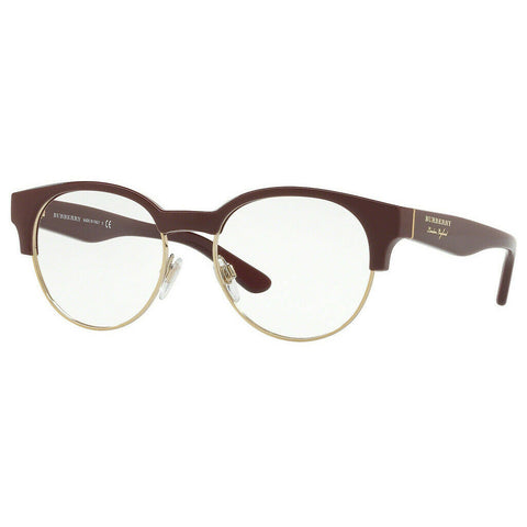 Burberry Round Women's Eyeglasses Bordeaux/Light Gold W/Demo Lens BE2261-3687-50