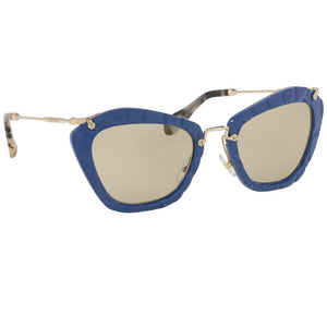 Miu Miu Cat Eye Women Noir Blue Sunglasses - Side View