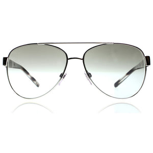 New Authentic Burberry Unisex Sunglasses Silver W/Grey Gradient Mirror Lens BE3084-10056V-57