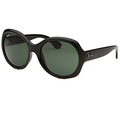 Ray-Ban Highstreet Sunglasses Black w/Green Classic Lens Women