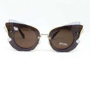 Miu Miu Over Lapping Butterfly Sunglasses | Front View