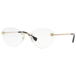 Versace Cat Eye Women's Eyeglasses Pale Gold W/Demo Lens VE1248B-1252-54