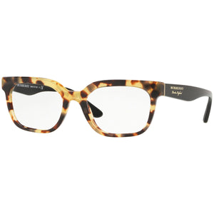 Burberry Square Women's Eyeglasses Light Havana W/Demo Lens BE2277-3741-51