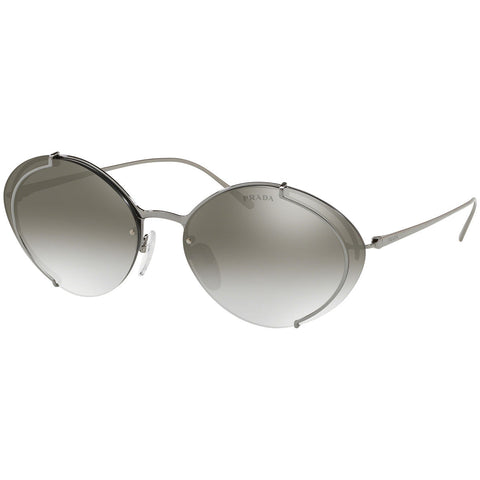 Prada Oval Women's Sunglasses W/Grey Gradient Mirrored Lens PR60US-5AV5O0-63