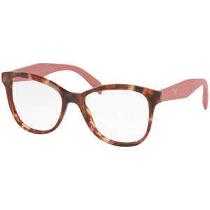 Prada Cat Eye Women's Eyeglasses Pink Havana W/Demo Lens PR12TV-UE01O1-51