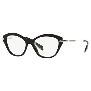 Miu Miu Cat Eye Women's Eyeglasses Black W/Demo Lens MU02OV-1AB1O1-54