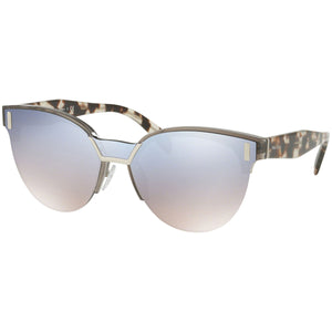 Prada Cat Eye Women's Sunglasses W/Blue Silver Gradient Mirrored Lens PR04US-VIP5R0-43