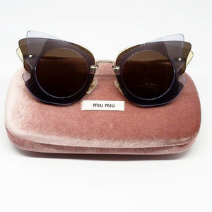 Miu Miu Over Lapping Butterfly Sunglasses | Hard Case
