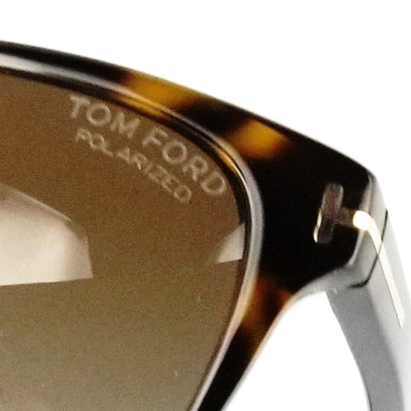 Tom Ford Polarized Dana Unisex Sunglasses Brown Rectangle TF0432 52H