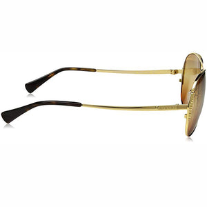Coach Sunglasses Gold w/Brown/Gold Gradient Lens Unisex