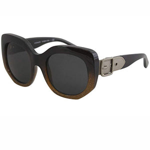 Coach Sunglasses Black Glitter with Buckle on Arms w/Grey Lens