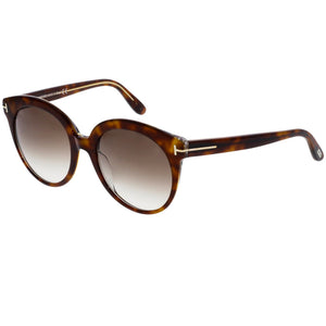 Tom Ford Monica Round Women Sunglasses Brown Gradient Lens