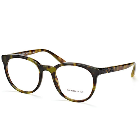 Burberry Unisex Eyeglasses Green/Havana w/Demo Lens  BE2250-3280-51