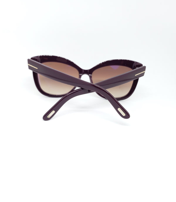 Tom Ford Alistair Sunglasses Violet/Light Brown Gradient Unisex FT0524 83F