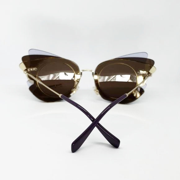 Miu Miu Over Lapping Butterfly Sunglasses | Back View