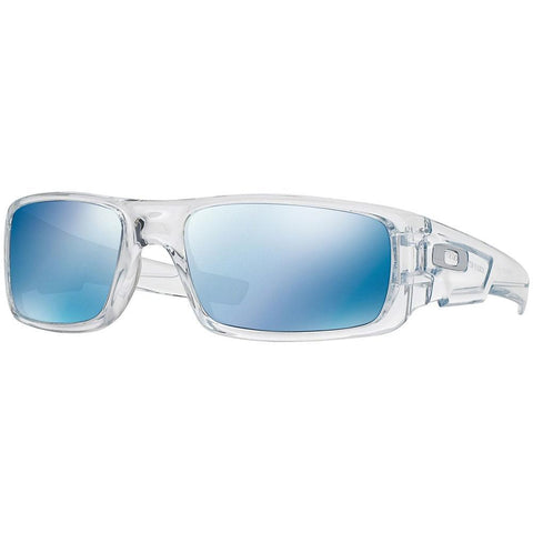 Oakley Crankshaft OO9239 04 Polished Clear/Ice Iridium Men's Sport Sunglasses