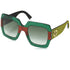 Gucci Oversized Women Sunglasses Green Gradient Lenses
