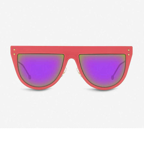 Fendi Defender FF 0372/S Sunglasses with 35J Pink Color Mirrored Lens