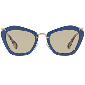 Miu Miu Cat Eye Women Noir Blue Sunglasses - Front View