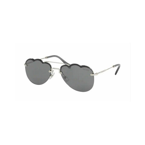 MIU MIU MU56US 1BC175 CLOUD Frame Grey Mirrored Women's Sunglasses