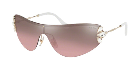 MIU MIU MU66US ZVN7L1 Gold Women's Gradient Sunglasses