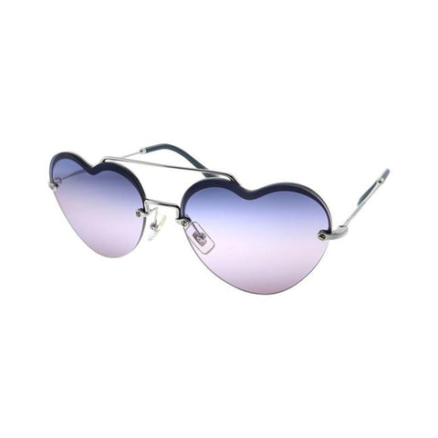 MIU MIU MU62US 1BC157 LOVE Purple Gradient Sunglasses