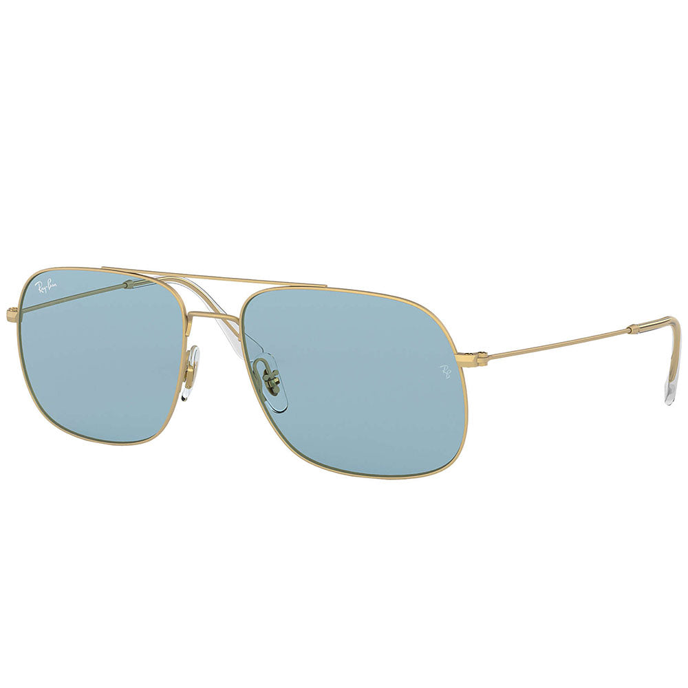 Ray Ban Aviator Unisex Sunglasses w/Andrea Light Blue Lens RB3595 901380