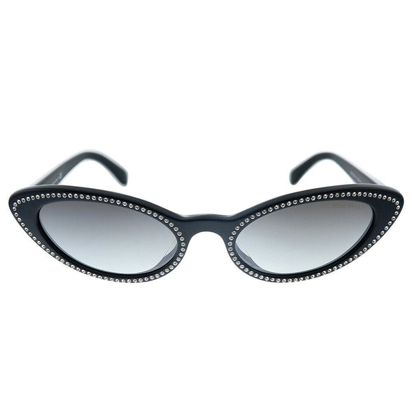 MIU MIU MU09USA 1415O0 Cat-Eye Black Sunglasses