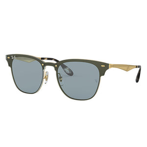 Ray Ban Blaze Clubmaster Unisex Sunglasses w/Blue Classic Lens RB3576N 9172/80