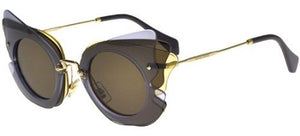Miu Miu Women's Over Lapping Butterfly Sunglasses | Side View