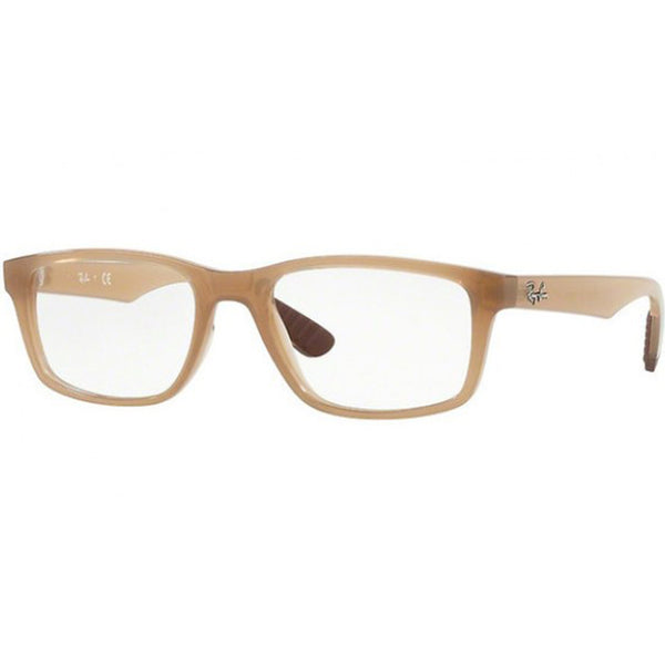 Ray-Ban Rx Eyeglasses Transparent Beige Color w/Demo Lens Unisex RX7063 8018 52