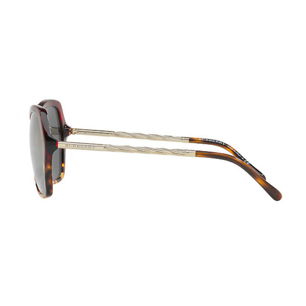 Burberry Sunglasses Butterfly Style Red Havana Light Havana w/ Dark Grey Gold Mirrored Lens