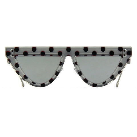 Fendi DEFENDER FF 0371/S Grey Pois/Grey Silver Mirrored (2BS/DC) Sunglasses
