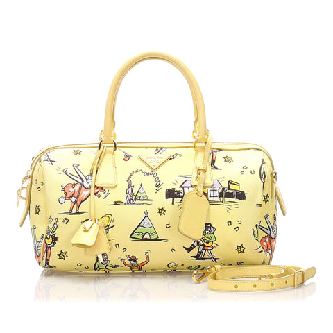 Prada Printed Canvas Satchel