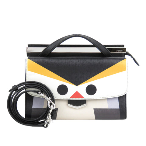 Fendi Monster Demi Jours Leather Satchel