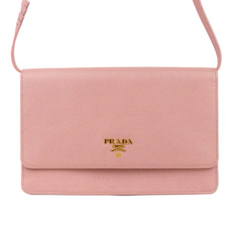 Prada Saffiano Leather Wallet on Strap