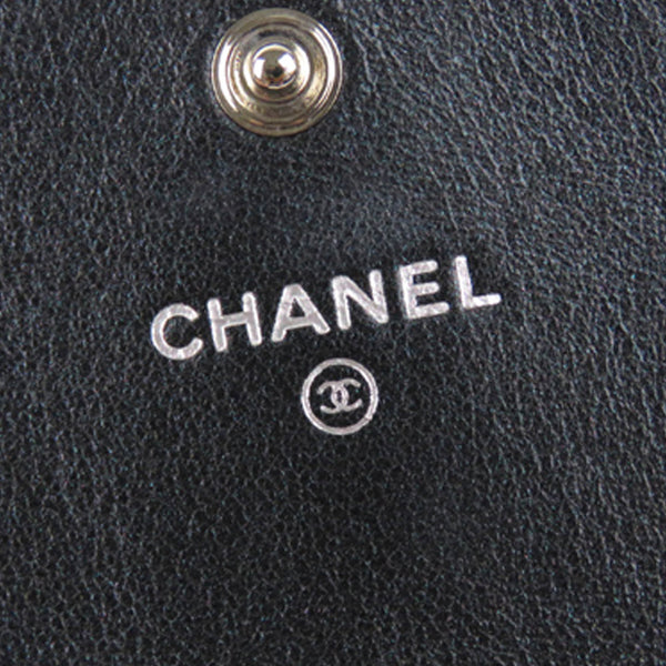 Chanel Camellia Leather Long Wallet