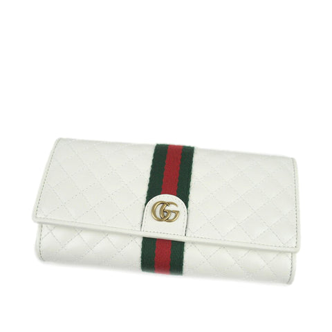 Gucci GG Marmont Web Leather Long Wallet