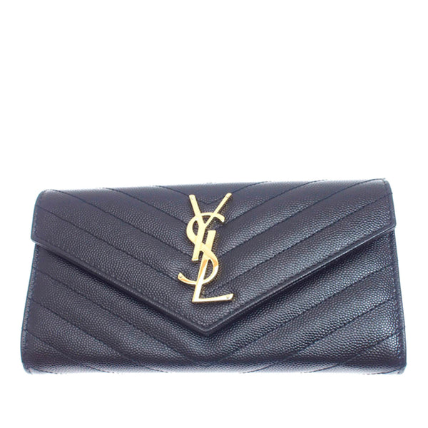 YSL Monogram Leather Wallet
