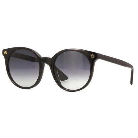Gucci Cat Eye Women's Sunglasses Black W/Grey Gradient Lens GG0091S 001