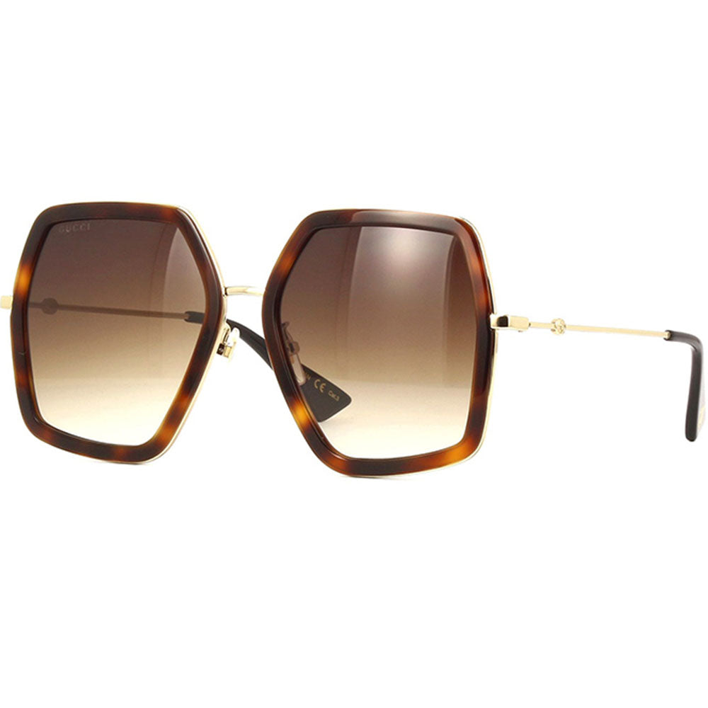 Gucci Women's Sunglasses W/Brown Gradient Lens GG0141S-003