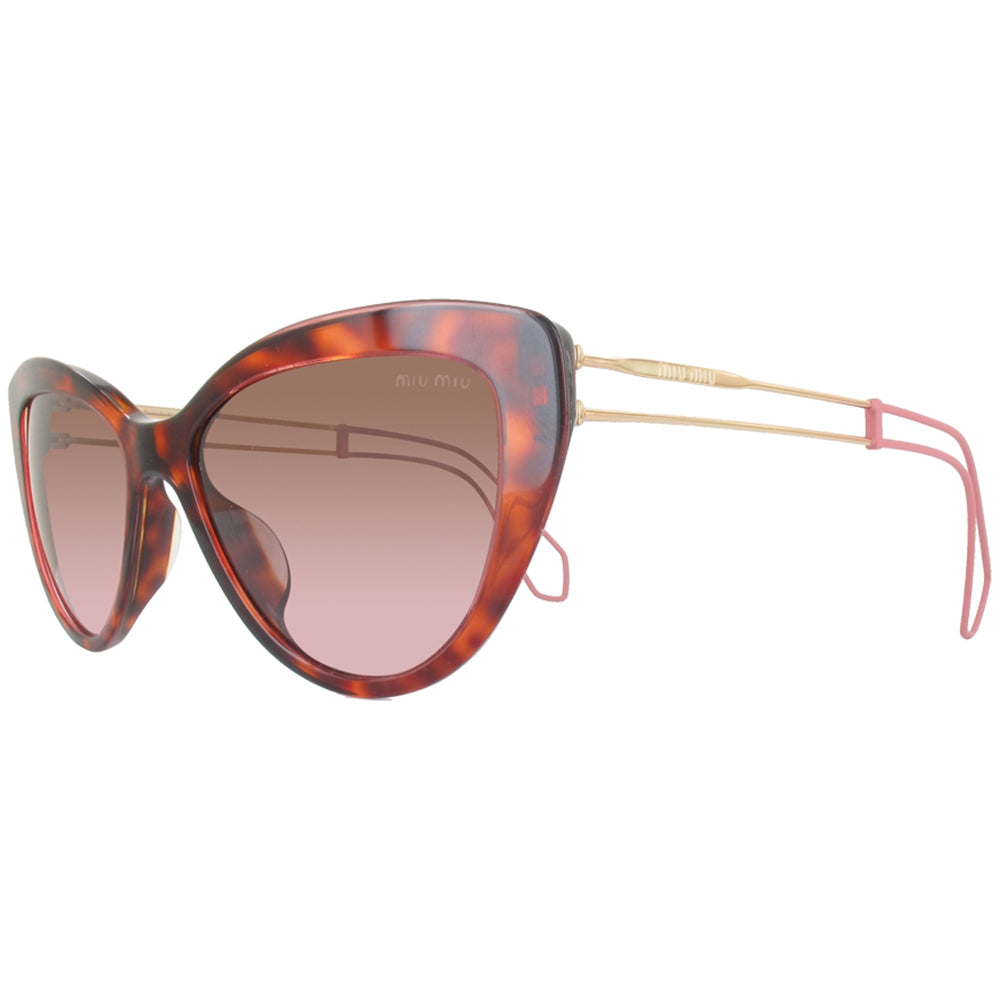 Miu Miu Cat Eye Women's Sunglasses w/Brown Lens MU12RSA U6G5P1
