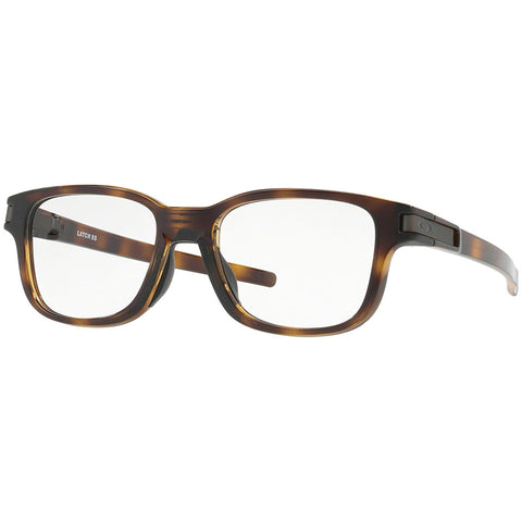 Oakley Latch SS Rx Square Eyeglasses Polished Brown Tortoise w/ Demo Lens Unisex OX8114 811402 50