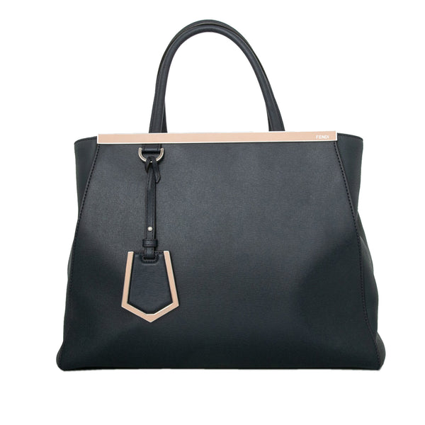 Fendi Medium 2Jours Leather Satchel