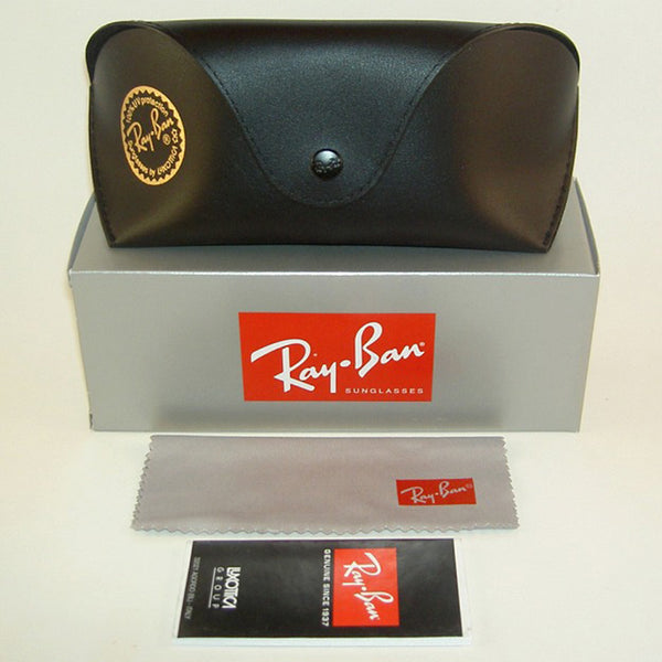 Ray-Ban Sunglasses Black/White w/Dark Grey Gradient Lens Unisex RB3605N 909511