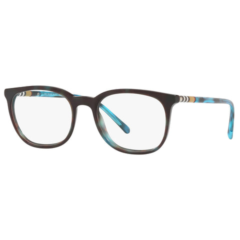 Burberry Men's Square Eyeglasses Blue Havana W/Demo Lens BE2266 3702