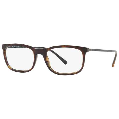 Burberry Men's Rectangular Eyeglasses Dark Havana W/Demo Lens BE2267 3002