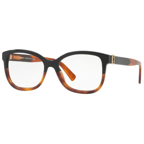 Burberry Eyeglasses Women's Black/Havana w/Demo Lens BE2252-3632-54